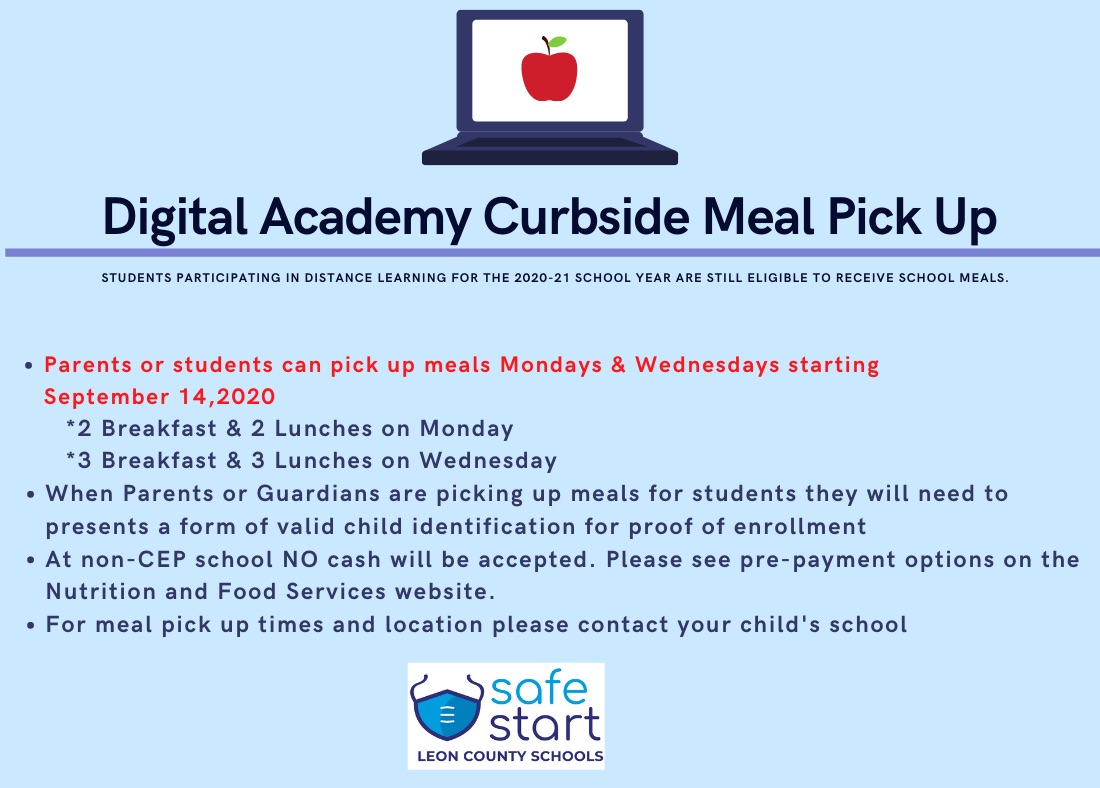 Digital Academy Curbside Meal Pick Up