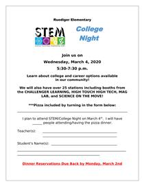 STEM and College Night