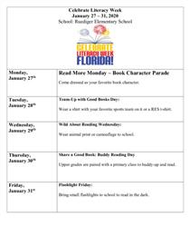 RES Literacy Week Activities