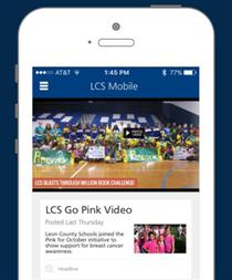 New LCS Mobile App flyer