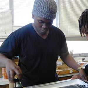 Rickards students learn art and business of silk-screening
