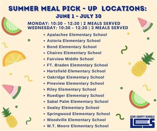 summer meal pick-up locations