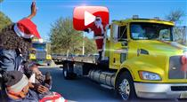 Tow Truck Drivers Create Parade At Everhart (VIDEO)