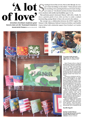 Gretchen Everhart students pour hearts into art