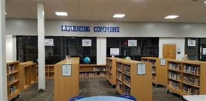 Fiction area in the Learning Commons.