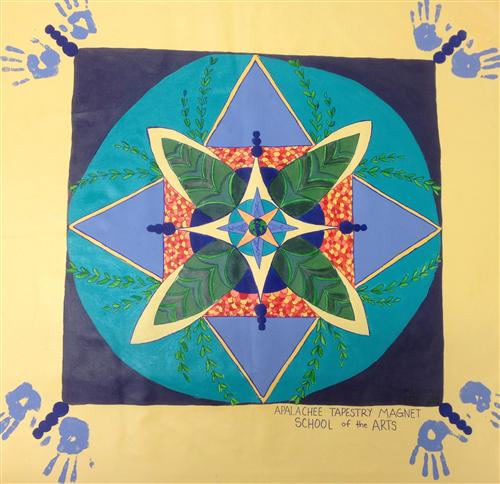 "5th grade Peace Mural entry for ""Kid's Guernica Project"""