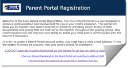 Parent Portal Request Screenshot