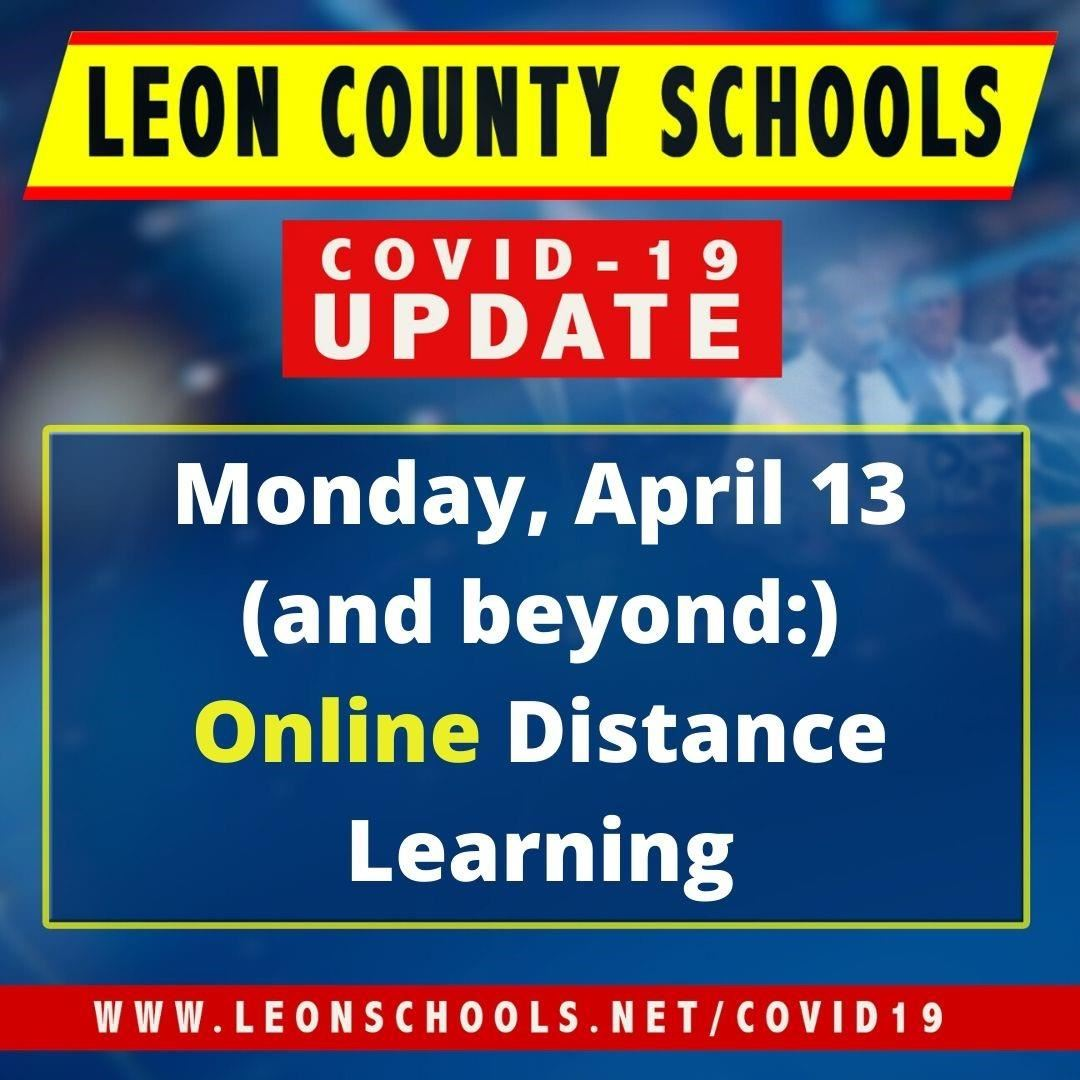 Online Distance Learning - 4/13 and Beyond