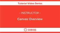 Instructor Canvas overview
