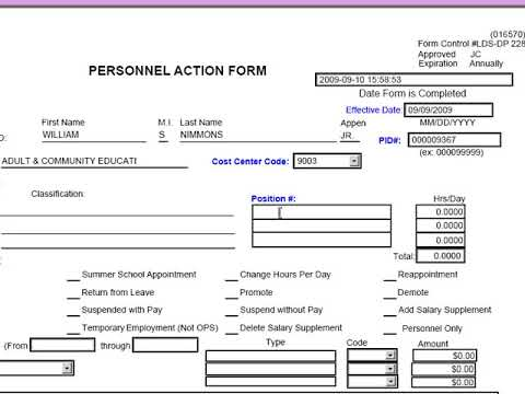 Video: 03 Forms - PAF (Personnel Action Forms)