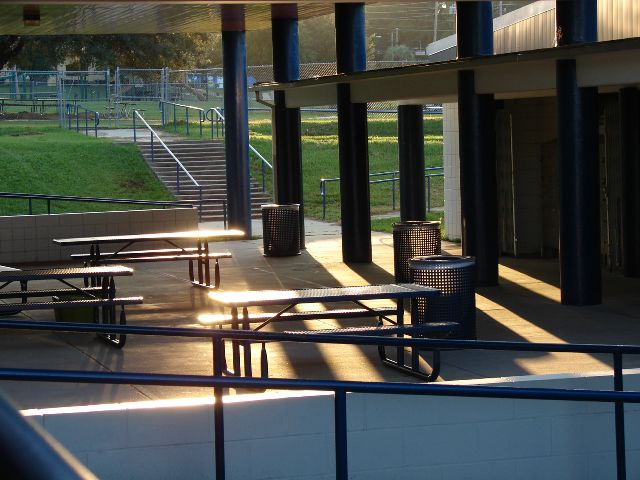 Tables near Lockers