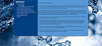 Screenshot of Water Quality Website